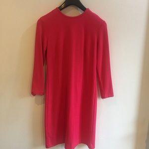 Ann Taylor Fuchsia Long Sleeved Dress